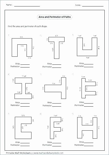 Polygons Worksheets 5th Grade area Of Polygon Worksheets Free