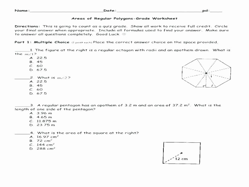 Polygons Worksheets 5th Grade area Of Polygons Worksheet Pdf – Trubs