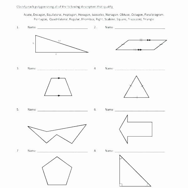 Polygons Worksheets 5th Grade Classifying Polygons Worksheet Math – Findethub