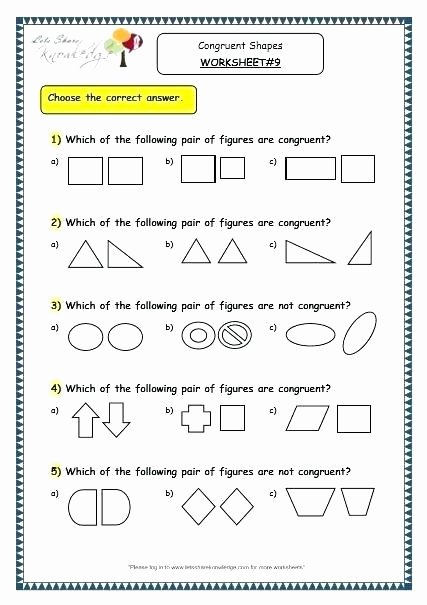 Polygons Worksheets 5th Grade Congruent Polygons Worksheet – Ozerasansor
