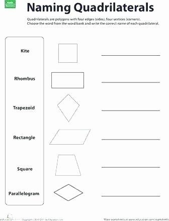 Polygons Worksheets 5th Grade Fourth Grade Geometry Classifying Quadrilaterals Polygons