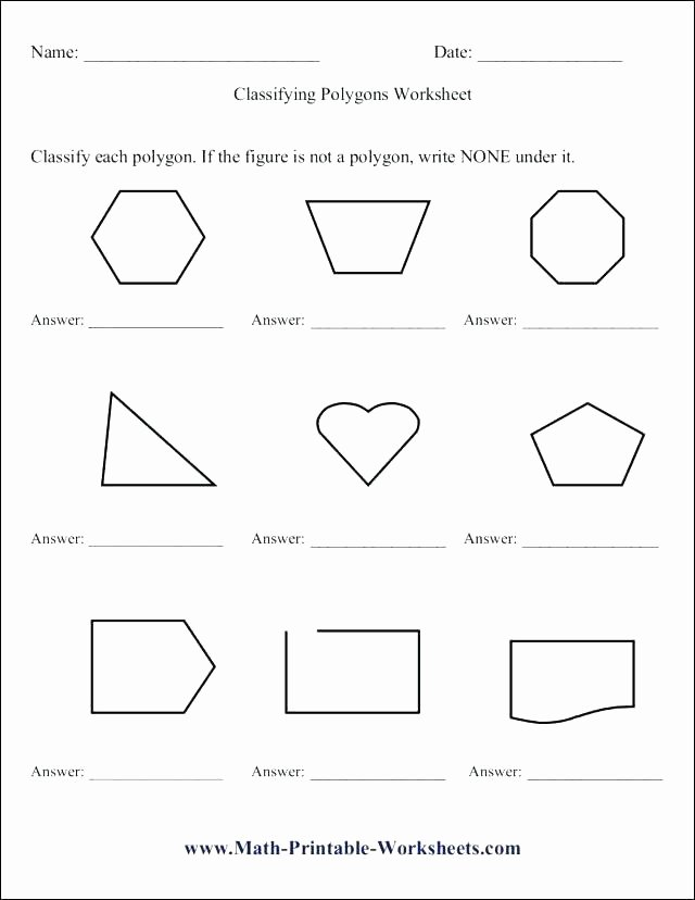 Polygons Worksheets 5th Grade Free Quadrilateral Worksheets Grade Quadrilaterals Worksheet