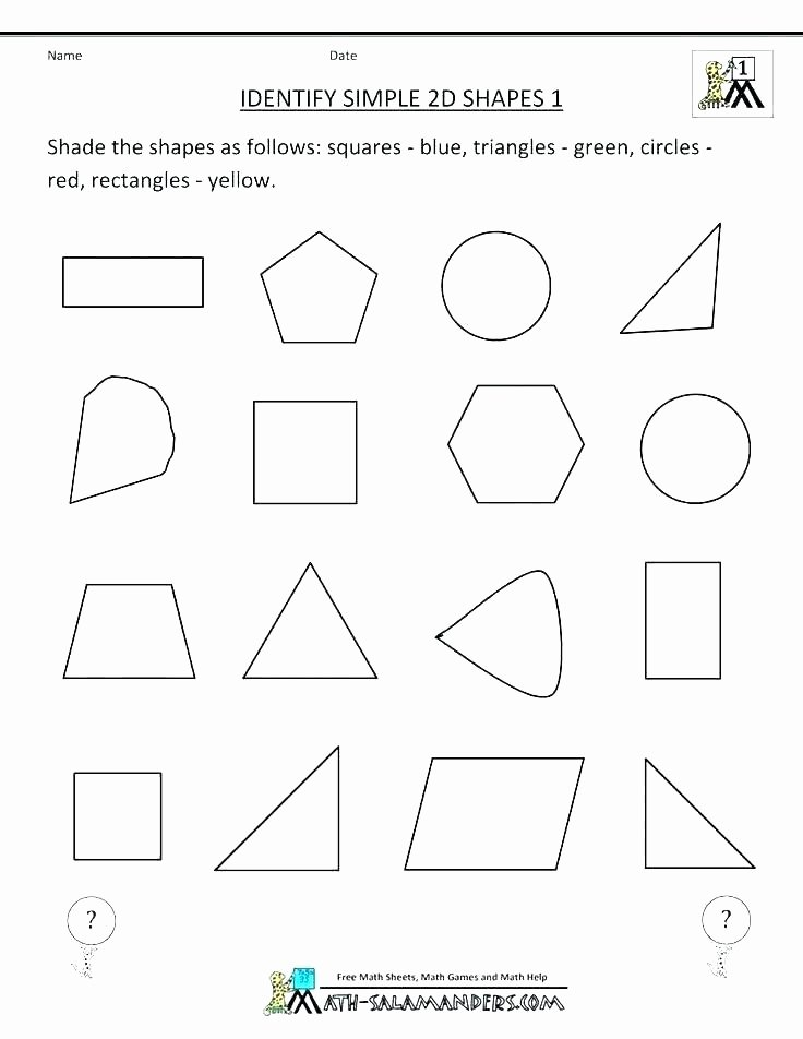 Polygons Worksheets 5th Grade Shapes Worksheets for Grade 2 solid Shapes Worksheets