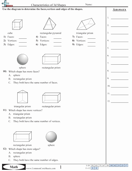 Polygons Worksheets 5th Grade Shapes Worksheets
