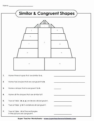 Polygons Worksheets 5th Grade Similar Congruent Shapes Printable area Polygons