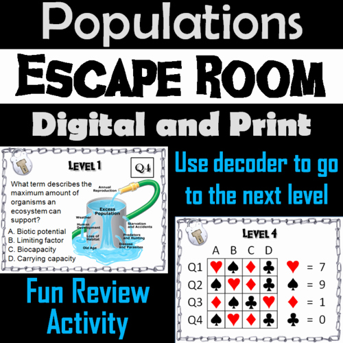 Populations and Communities Worksheet Answers Populations In Munities Environmental Science Escape Room Activity Ecology