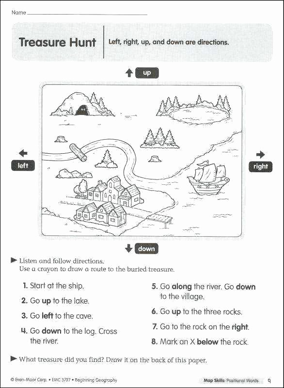 Positional Word Worksheets 3rd Grade Geography Worksheets