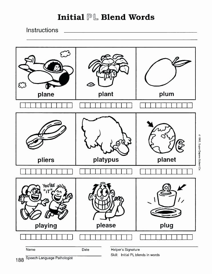 Positional Words Worksheet for Kindergarten Printable Blends Worksheets Kindergarten Word Building Cards