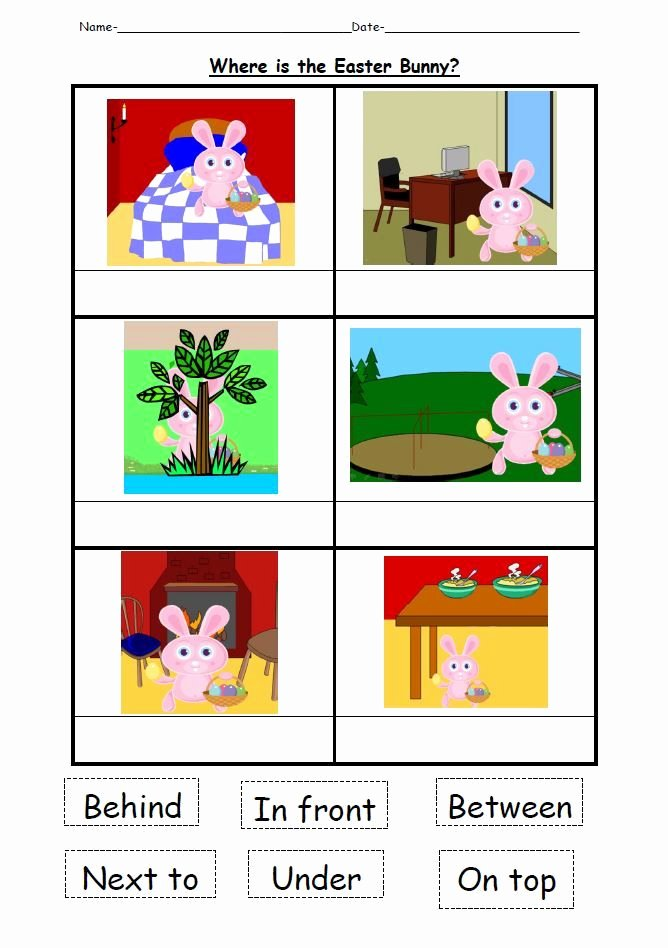 Positional Words Worksheets for Preschool A Powerpoint Focusing On Teaching Children Positional Words
