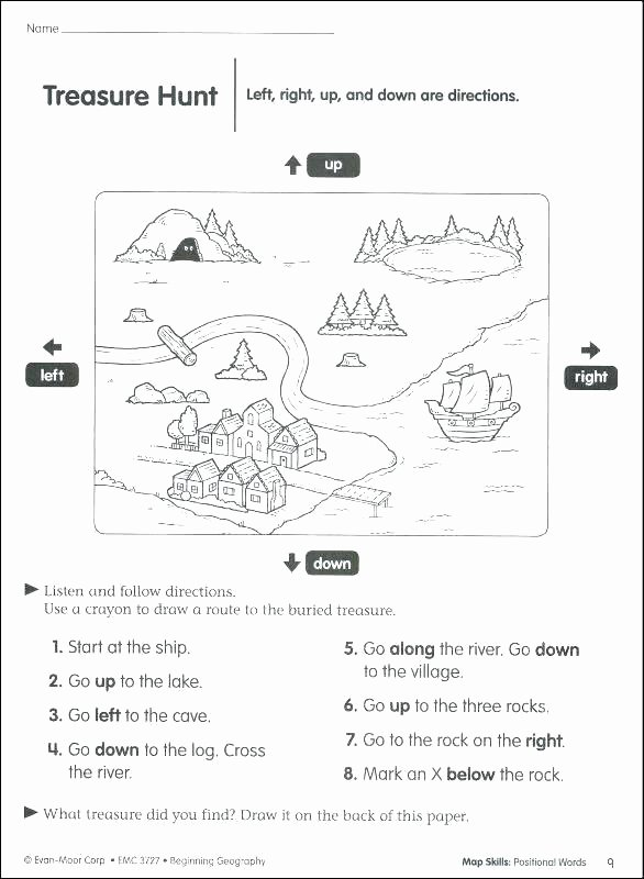 Positional Words Worksheets for Preschool Positional Words Worksheets 2nd Grade Image Below for
