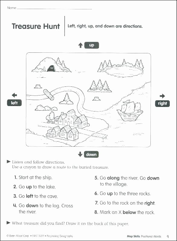 Positional Words Worksheets Free History Worksheets