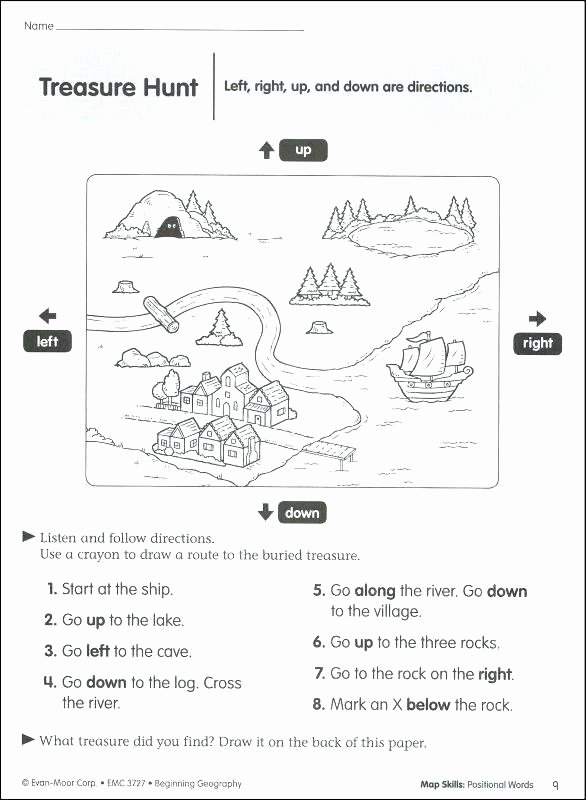 Positional Words Worksheets Geography Worksheets 3rd Grade – Primalvape