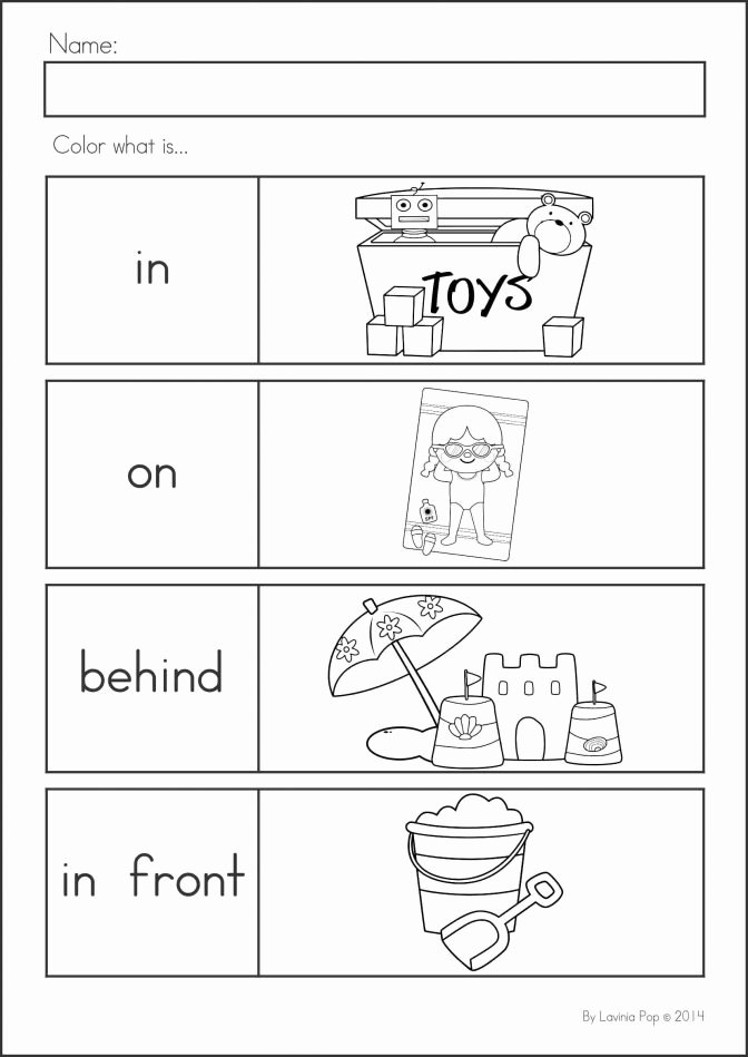 Positional Words Worksheets Kindergarten Y Words for Kindergarten Math Positional Worksheets Moving