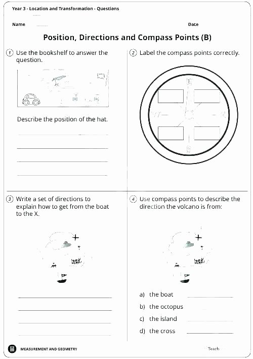 Positional Words Worksheets Position Worksheets