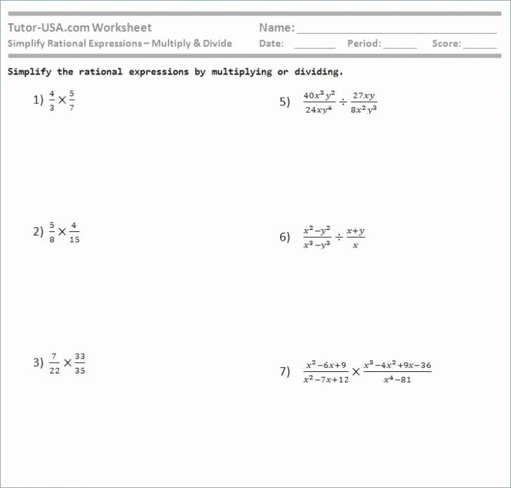 Positive and Negative Number Worksheets Multiplying and Dividing Positive and Negative Rational