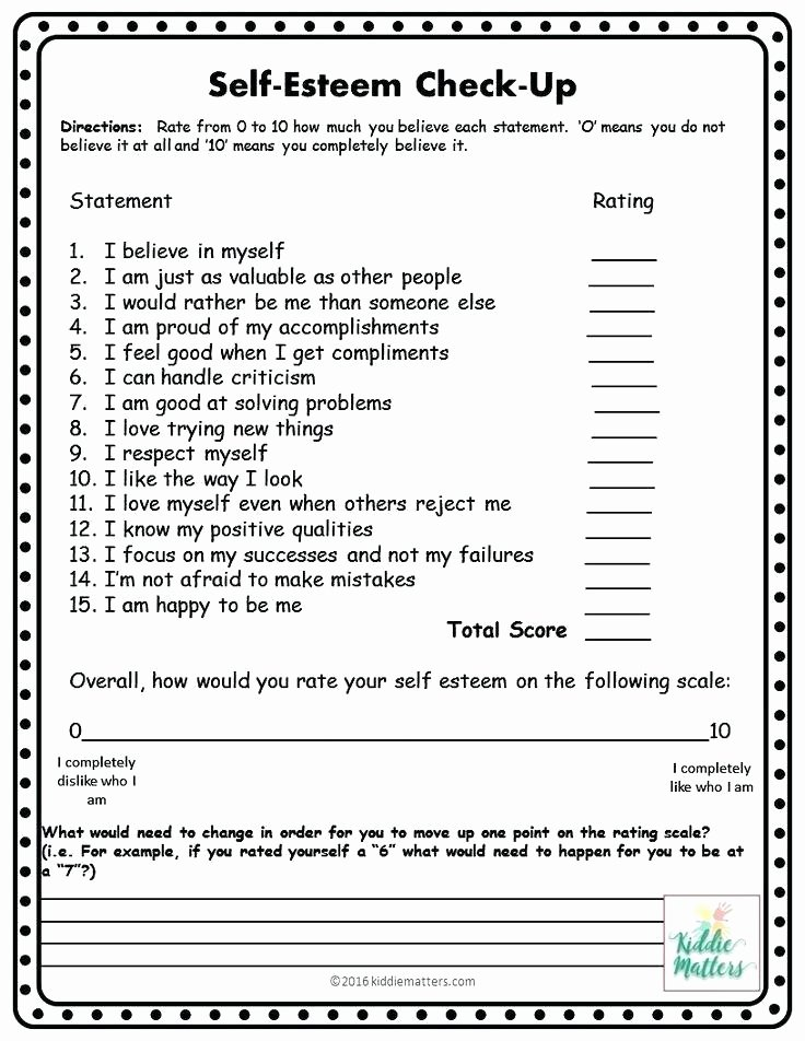 Positive Self Esteem Worksheets Positive Self Esteem Ets and Activities Improving Self