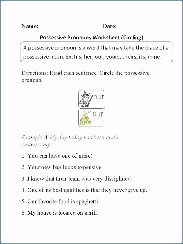Possessive Pronoun Worksheet 3rd Grade Personal and Possessive Pronouns Worksheets – Openlayers