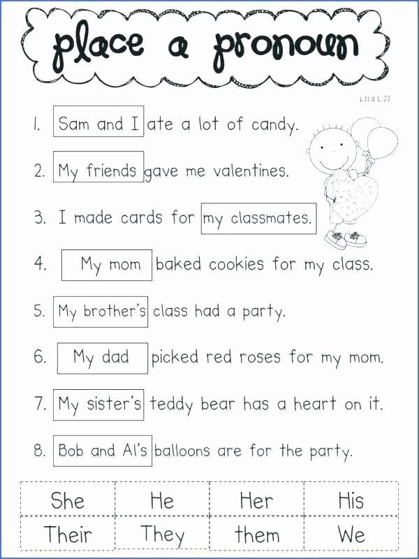 Possessive Pronoun Worksheet 3rd Grade Verbs Worksheet 3rd Grade 4