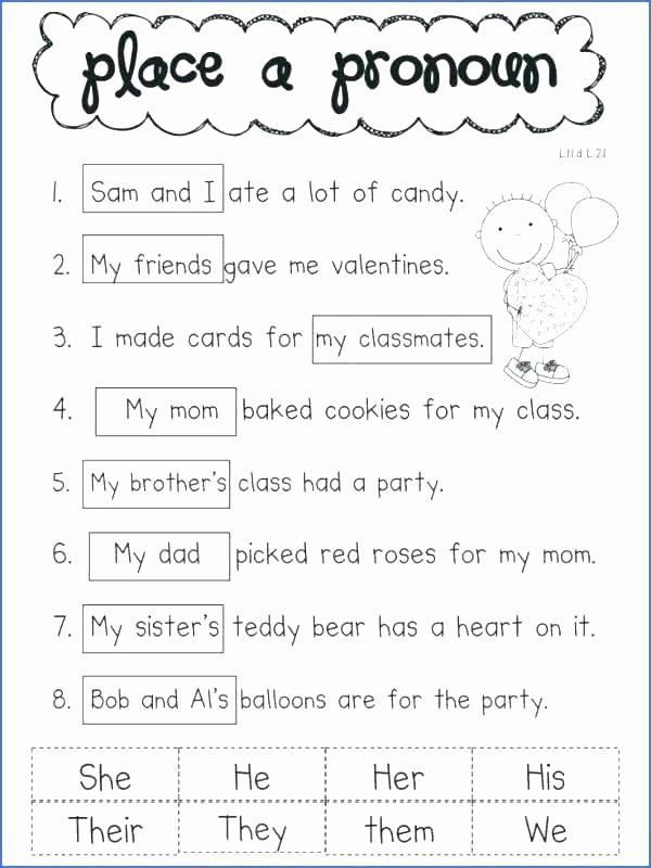 Possessive Pronoun Worksheet 3rd Grade Verbs Worksheet 3rd Grade 4