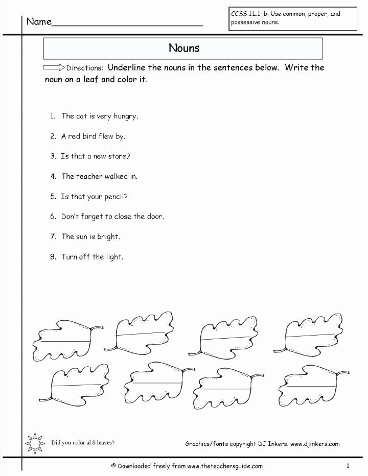 Possessive Pronouns Worksheet 2nd Grade 55 Lovely Possessive Nouns Worksheets 2nd Grade Stock