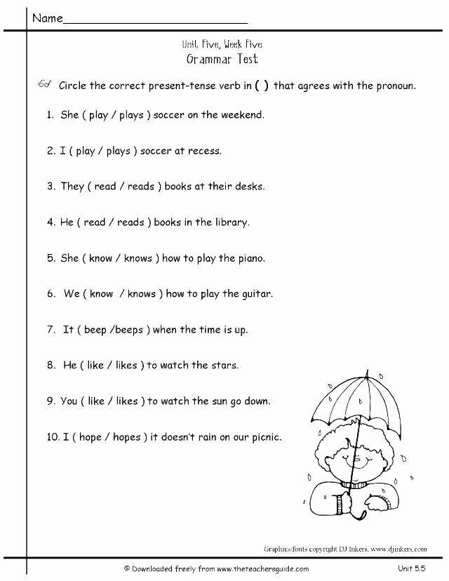 Possessive Pronouns Worksheet 2nd Grade Elegant Child Development Worksheets for Students Free