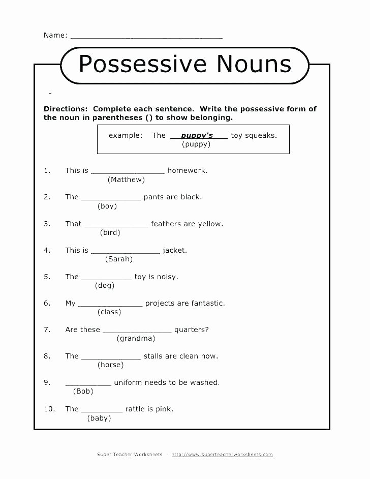 Possessive Pronouns Worksheet 2nd Grade Subject and Object Pronouns Worksheets Worksheet Fresh the