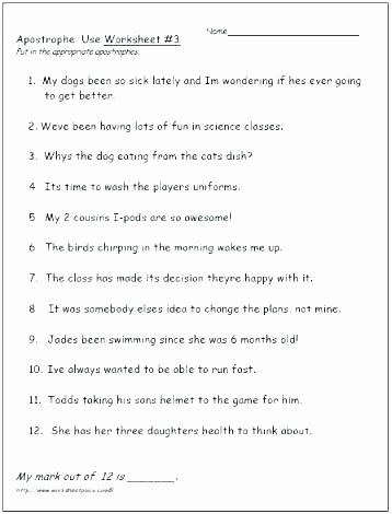 Possessive Pronouns Worksheet 3rd Grade Possessive Nouns Worksheets 3rd Grade Singular and Plural