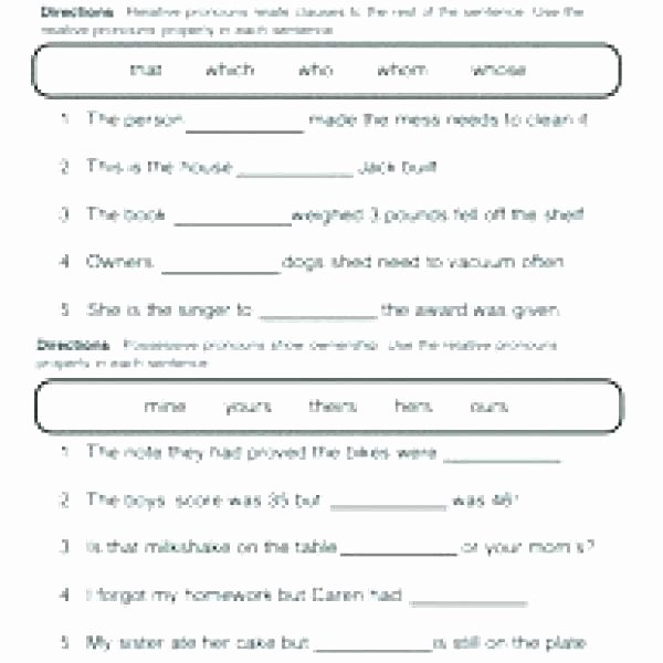 pronoun worksheets grade possessive nouns worksheet 3 relative plural practice and pronouns the best image collection share noun full