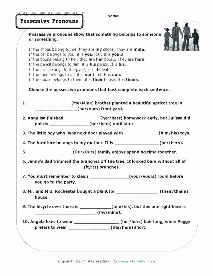 Possessive Pronouns Worksheet 3rd Grade School Worksheets for 3rd Grade Back to Feels Like Male