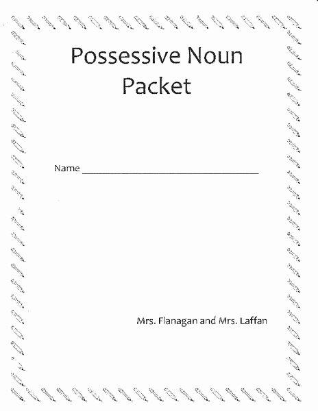 Possessive Pronouns Worksheet 5th Grade Worksheet Possessive Nouns 5th Grade