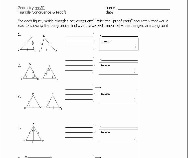 Pre Ap Geometry Worksheets High School Geometry Worksheets Congruent Triangles Simple