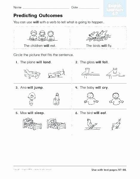 Predicting Outcomes Worksheets Pdf Inspirational Main Idea Worksheets Grade 4 – Slaterengineering