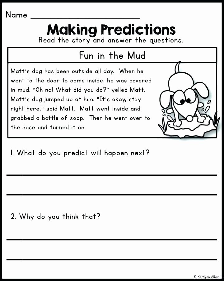 Prediction Worksheets 3rd Grade Reading Prehension Making Predictions Passages Predict