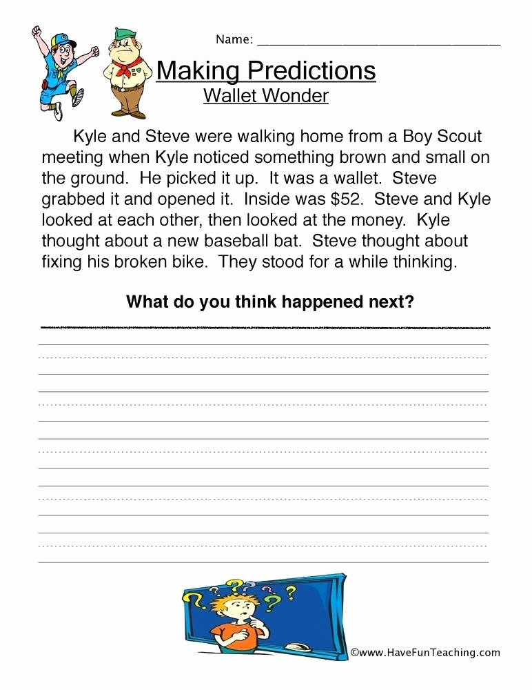 Prediction Worksheets for 2nd Grade Making Predictions Worksheets 4th Grade – Moonleads