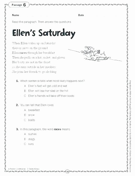 Predictions Worksheets 1st Grade Predicting Out Es Worksheets Reading Prehension for