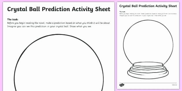 Predictions Worksheets 1st Grade Reading Prediction Worksheets Guided Crystal Ball Worksheet