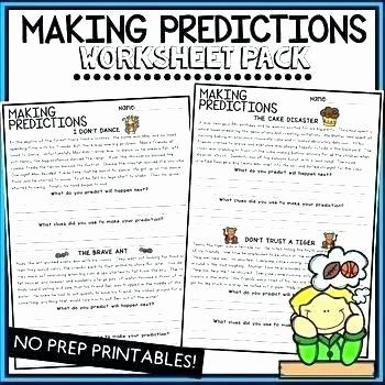 Predictions Worksheets 3rd Grade Making Predictions Worksheets 2nd Grade Making Predictions