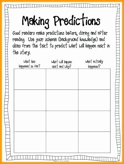 Predictions Worksheets 3rd Grade Making Predictions Worksheets 2nd Grade