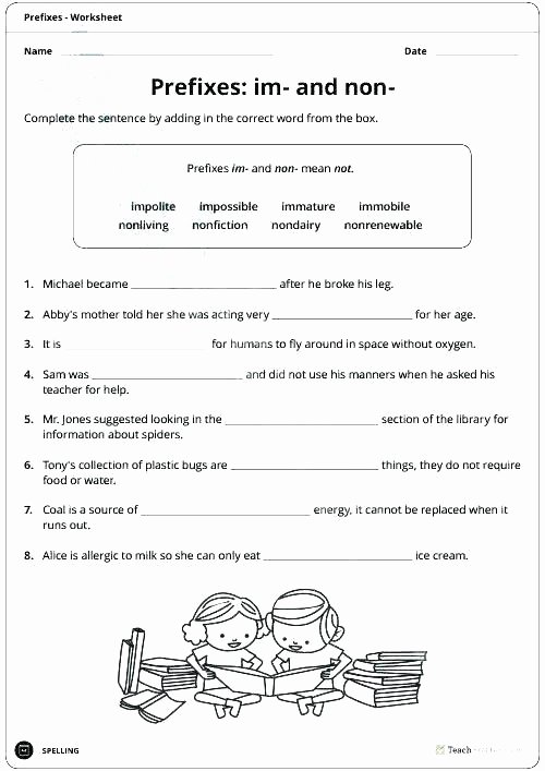 Prefix and Suffix Worksheets Pdf Free Prefix Worksheets Grade Suffixes for Sixth Printable