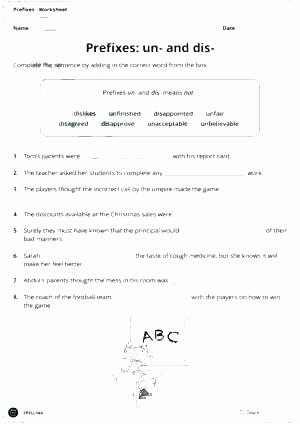 Prefix Suffix Worksheet 3rd Grade Prefixes Re Un Dis Worksheets Prefix Free and Worksheet