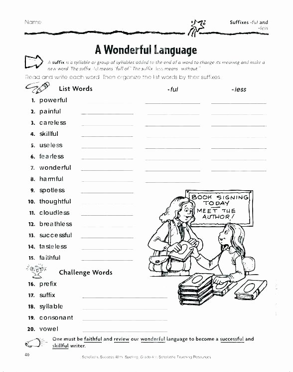 Prefix Suffix Worksheets 3rd Grade Free Suffix Worksheets Suffixes Worksheet 1 and Less for
