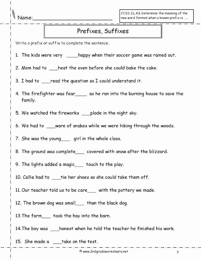 Prefix Worksheets 4th Grade Esl Prefixes and Suffixes Worksheets Medium to Size