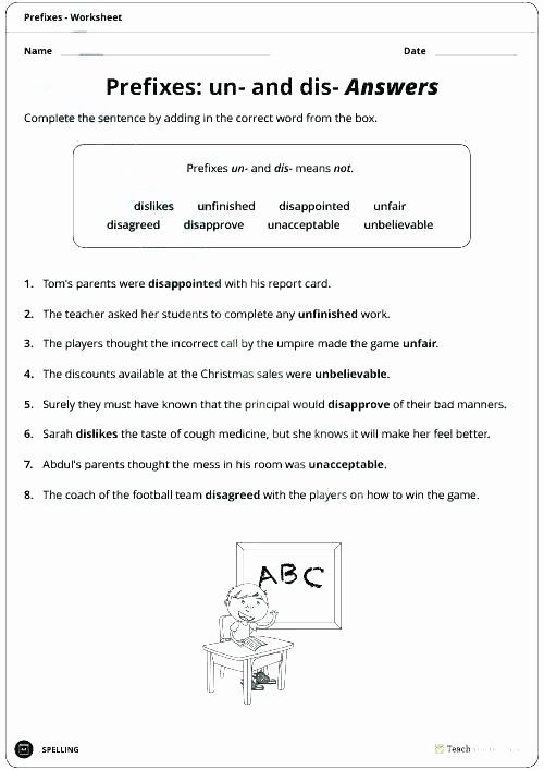 Prefixes and Suffixes Worksheets Pdf Adding A Prefix Worksheet Activity Sheet and Suffix