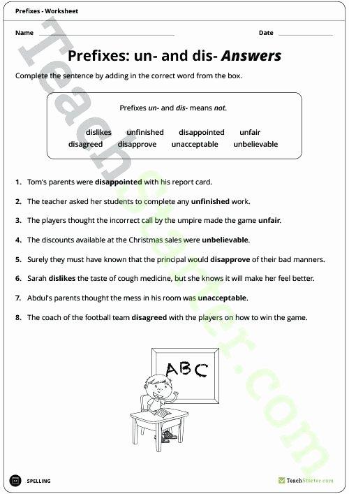 Prefixes and Suffixes Worksheets Pdf Prefixes Worksheets