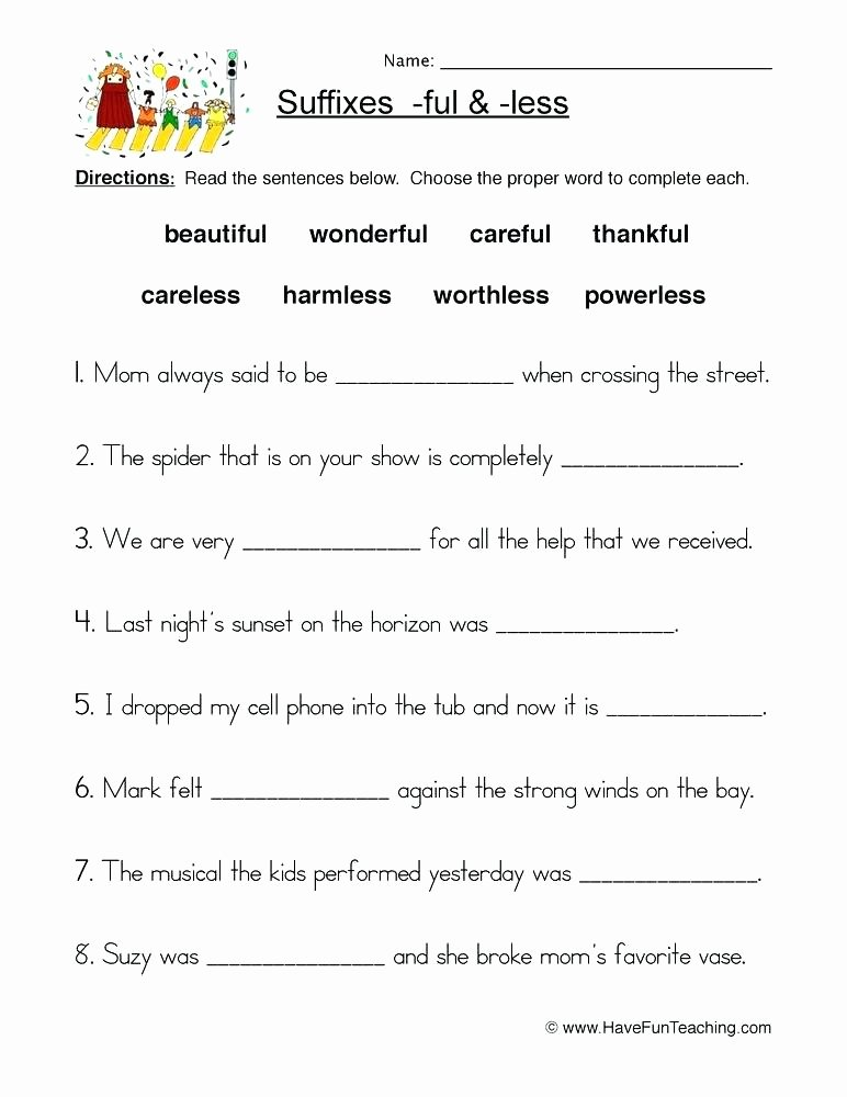 Prefixes and Suffixes Worksheets Pdf Suffix Er Worksheets