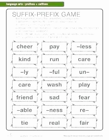 Prefixes and Suffixes Worksheets Pdf Worksheets for Prefixes and Suffixes – Primalvape