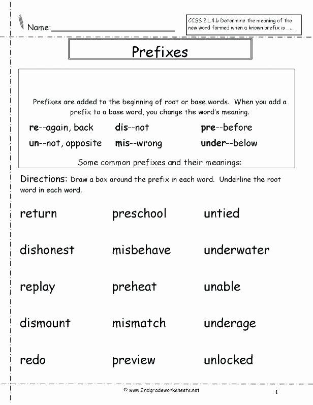 Prefixes Worksheet 3rd Grade Base Words Worksheets