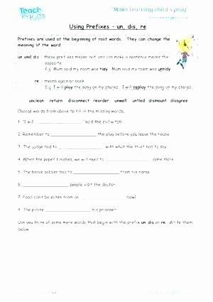 Prefixes Worksheet 3rd Grade Prefix Re Worksheets Fourth Grade Suffix Negative Prefixes