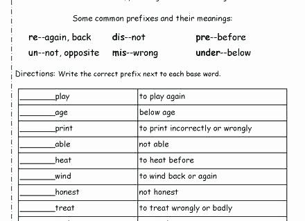 Prefixes Worksheets 3rd Grade Whats the Root Word Printable Vocabulary Worksheet What is A