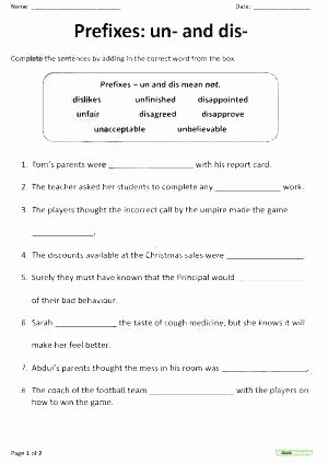 Prefixes Worksheets 4th Grade Summarizing Worksheets 7th Grade Prefixes and Dis Worksheet